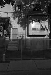 Exteriour Grade (geowelch) Tags: toronto blackwhite hc110 neopan400 urbanlandscape urbanfragments pentaxlx dilutionh niagarast plustekopticfilm7400 tamronadaptall2sp2448mm