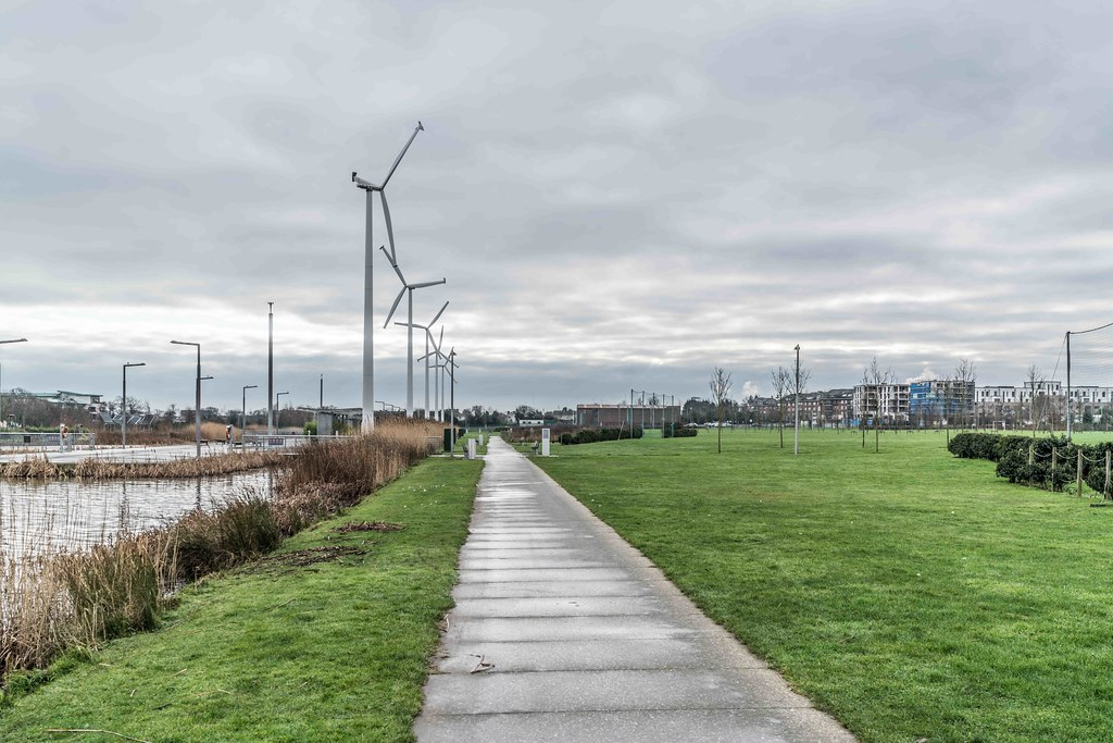 Wind Powered Public Park In Clongriffin Dublin [Father Collins Park]-110987