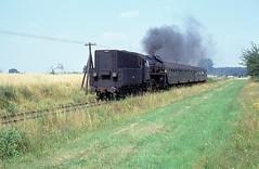 OL49-6  Srem  24.07.91 (w. + h. brutzer) Tags: analog train nikon poland eisenbahn railway zug trains steam polen locomotive dampflok lokomotive pkp eisenbahnen srem ol49 dampfloks webru