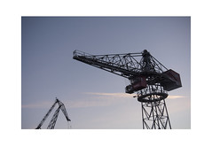 Cranes (Pictures from the Ghost Garden) Tags: windows winter urban architecture suomi finland landscape nikon turku riverside dusk cranes rivers dslr ports riveraura 18105mm d7100