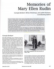Memories of Mary Ellen Rudin (1924 - 2013) (ali eminov) Tags: journals mathematicians remembrances organizations americanmathematicalsociety noticesoftheamericanmathematicalsociety maryellenrudin