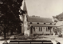 Episcopal Church B&W Postcard