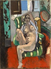 Odalisque with a Tambourine, 1926 // by Henri Matisse (mike catalonian) Tags: 1920s portrait france female painting fulllength henrimatisse 1926 xxcentury