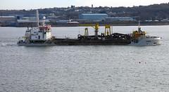 Laden to the gunnels (daviddb) Tags: pembroke dock frost suction pinta dredger deepladen