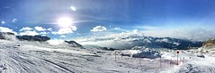 Passo del Grost (vannuc) Tags: sky panorama sun mountain snow ski clouds weekend pista sci iphone