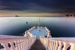 Terrace Sea (canonixus1) Tags: dawn mar mediterraneo amanecer cielo lee hitech mirador terraza escaleras benidorm haida granangular filtros largaexposicion canon1740 firecrest heliopan longexposoure canon6d portafiltros canonixus1