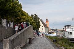 Tourists on the Canal 9803 (Ursula in Aus) Tags: cruise germany bavaria europe unesco regensburg vikingdelling