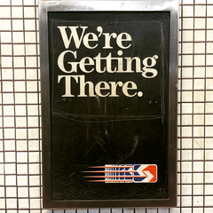 we're getting there (Molly Des Jardin) Tags: street city usa signs black philadelphia public station sign subway tile funny metro pennsylvania centercity trolley center transportation transit philly septa 19th 2015 iphone5sbackcamera415mmf22