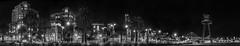 king street skyline (pbo31) Tags: sanfrancisco california park city bridge winter urban blackandwhite panorama sculpture motion black art skyline night dark bay nikon traffic large panoramic muni baybridge embarcadero february 80 kingstreet southbeach stitched 2016 lightstream boury pbo31 d810