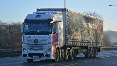 YA13 JTU (panmanstan) Tags: truck wagon mercedes yorkshire transport lorry commercial vehicle freight mp4 haulage hgv southcave actros a63 curtainsider
