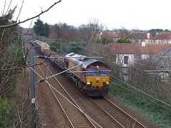 Troon - 05-02-2016 (agcthoms) Tags: station scotland trains railways troon ayrshire class66 dbschenker