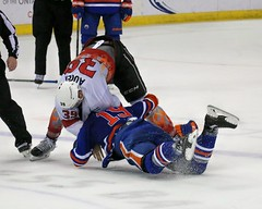 Takedown (kimpossible pics) Tags: ontario hockey nhl icehockey kings ahl condors reign fights lakings losangeleskings nationalhockeyleague bakersfieldcondors americanhockeyleague citizensbusinessbankarena hockeyfights ontarioreign justinauger mitchmoroz