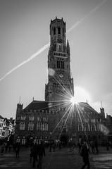 Belfried (Just_Maze) Tags: sun belgium brugge bruges sonne belfort belgien brügge belfried