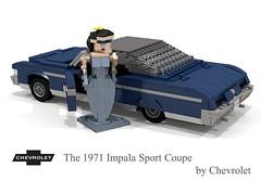 Chevrolet 1971 Impala Sport Coupe (lego911) Tags: auto b usa classic chevrolet hardtop car sport america 1971 model gm lego general yacht render motors chrome 99 land 1970s impala coupe challenge v8 cad lugnuts povray fullsize caprice moc 454 ldd bigblock miniland landyachts bbody lego911