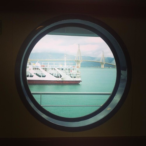Window to the bridge #greece #nickvous #rio #andirio #sea #bridge #ship #window