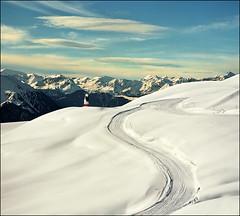 Winter landscape (Katarina 2353) Tags: winter mountain snow alps film landscape switzerland nikon swiss verbier katarinastefanovic katarina2353