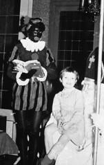 Sinterklaas and Zwarte Piet (Arne Kuilman) Tags: school feest blackandwhite sinterklaas children found zwartepiet visit class lostandfound agfa sintnicolaas 1961 blackpete vroeger photonotmine agfalisopanff