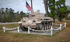 Roadside Tank (Iggy & StarCat) Tags: texas tank outdoor flag military cannon vehicle armored x100 treads
