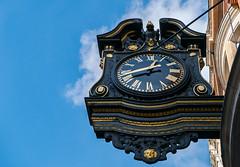 Clock (Covent Garden) (Panasonic Lumix LX100 Compact) (markdbaynham) Tags: street leica city uk urban london westminster lumix zoom capital central panasonic gb fixed ft metropolis dmc 43rd 43 lx londoner londonist fourthirds evf lx100 2475mm f1728 lumixer