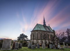 Vicarsford Church & Cemetery (kwallace88) Tags: old longexposure flowers roof sunset building tree church beautiful grave architecture clouds landscape scotland photo nikon photographer fife outdoor hill steeple veterans 10stop leefilters triggertrap