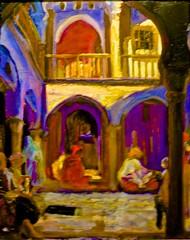 Algerian courtyard (c. 1925) - Adriano de Sousa Lopes (1879 - 1944) (pedrosimoes7) Tags: portugal museum painting museu lisbon muse cc creativecommons mnac portuguesepainter museunacionaldeartecontempornea chiadoo pintorportugus ecoledesbeauxarts adrianodesousalopes peintreportugais