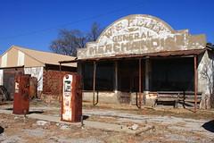 Abandoned General Store/Gas Station in Cogar, OK (flyingaxel) Tags: man abandoned oklahoma rain station store general merchandise rainman cogar