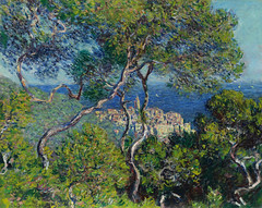 Claude Monet  Bordighera, 1884. Painting: Oil on canvas, 65 x 80.8 cm. Art Institute of Chicago. Early in 1884, Claude Monet traveled to Bordighera, a town on the Italian Riviera, close to the border between Italy and France, for a working visit of three (ArtAppreciated) Tags: ocean trees italy cliff seascape art history nature century painting landscape outdoors coast mediterranean riviera waterfront view horizon fineart blogs shore monet vista impressionism coastline claude 19th 1880s pleinair bordighera artblogs tumblr artoftheday artofdarkness date1884 artappreciated artofdarknessco artofdarknessblog
