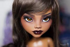 "Luna (MH Clawdeen 17"") (Meggilu) Tags: house eye face fashion monster ball dark high inch doll dolls skin ooak tan carving luna customized 17 bjd tall custom dollfie opeining jointed customization ghouls repaint faceup frightfully meggilu clawdeen"