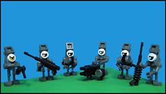 Cyclopean Heavy Machine Gun Squad (Karf Oohlu) Tags: lego cyclops machinegun moc microscale machinegunsquad