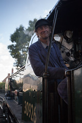 The engineer (paul indigo) Tags: portrait man train traditional railway steam driver engineer steamengine locamotive