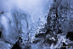 large ice natural (nakashy) Tags: winter snow color ice nature japan canon river landscape photography eos photo 5d rapid 70200mm 2016 5dmk3 5d3