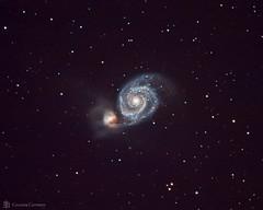 Whirlpool Galaxy (M51) (cassianocarromeu) Tags: sky black colors beautiful night canon stars hole object space deep telescope whirlpool galaxy astrophotography astronomy m51 hd universe celestron 8in pixinsight backyardeos