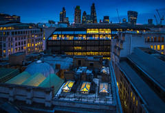 City Rooftops (Mike Hewson) Tags: city roof london skyscraper sunrise dawn nikon cityscape rooftops bluehour cityoflondon d610 squaremile