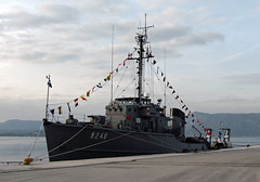 Greek minesweeper (The Rubberbandman) Tags: old classic port vintage greek harbor boat ship harbour military navy vessel m greece coastal corfu 248 hs minesweeper hellenic m248 aidon