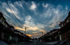 The Cloud (aludatan) Tags: blue sky cloud nature fisheye malaysia penang amateur cloudformation astoundingimage club16 iamnikon nikonfxshowcase