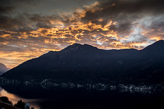 Tramonto sul Triangolo Lariano (LaBi_LauraBindaPhotoGraphics) Tags: italy lake como sunrise lago tramonto bellavista ita comolake nesso triangololariano careno