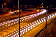 M1 Motorway (1) (LFaurePhotos) Tags: life road longexposure urban signs london night motorway m1 outdoor diagonal vehicles lamppost freeway lighttrails afterdark a41 stanmore northwestlondon brockleyhill londonboroughofbarnet