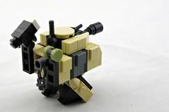 Mk.3x Twank (Tan, Rear) (Deltassius) Tags: mobile robot war tank lego space military walker frame zero mecha mech wanzer twank tweepunk mfz mf0