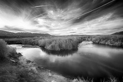 A challenge (fieldsbh) Tags: sunset river ir infrared bishop owensriver