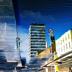 Reflecting on Liberty (Dave G Kelly) Tags: ireland dublin reflection building water architecture square puddle day outdoor libertyhall