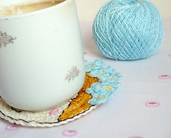 forgetmenot1 (MonikaDesign) Tags: happyface homedecor blueflower tabledecor handstitching lovelyface kitchendecor forgetmenotflower crochetcoaster handmadecoaster monikadesign forgetmenotcoaster