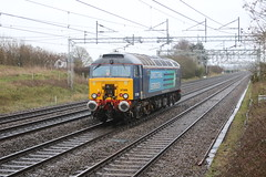 DRS 57308 @ Chorlton (uksean13) Tags: train canon track cheshire diesel rail railway loco crewe locomotive drs ef28135mmf3556isusm 57308 chorltonlane 760d