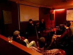 David Thomas in conversation @ The Ruby Lounge, Manchester 22/3/2016 (stillunusual) Tags: uk england music manchester concert live gig livemusic band mcr 2016 rubylounge johnrobb davidthomas pereubu
