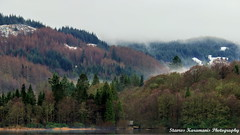 Loch Lomond view Scotland (stavros karamanis) Tags: morning trees mountain lake snow fog canon landscape scotland outdoor hill ngc mountainside lakeforest foothill t3i lakescapes lochachray canonphotography canonusers ef35350mmf3556lusm
