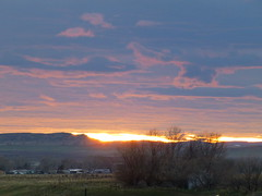 sunset (army.arch) Tags: sunset mountains clouds hills wyoming douglas wy