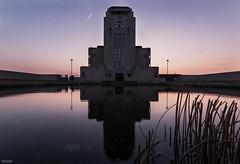 Radio Kootwijk (State of Decay) Tags: reflection building water architecture radio waterfront dusk nederland architectuur weerspiegeling kootwijk