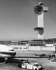 JFK Airport (nuthon) Tags: new york trip travel bw usa white black art airplane see design fly check airport tour time you go jfk again ready bounding 2016 nuthon