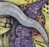 Tornado & Railroad (molossus, who says Life Imitates Doodles) Tags: watercolor patterns zia zentangle zendoodle zentangleinspiredart