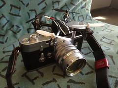 Gimbaled M3 (R.O.Y.G.B.I.V.) Tags: berlin film glass 50mm remotecontrol sbahn brass drone leicam3 artisanartist leicasummarit50mmf15 djiphantom filmdrone