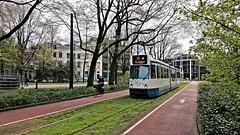 Trams op Koningsdag 10 (Peter ( phonepics only) Eijkman) Tags: city holland netherlands amsterdam transport nederland tram rail bn rails trams strassenbahn noordholland gvb tramtracks streetcars nederlandse trapkar